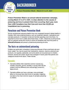 Thumbnail of the Poison Prevention Week Backgrounder