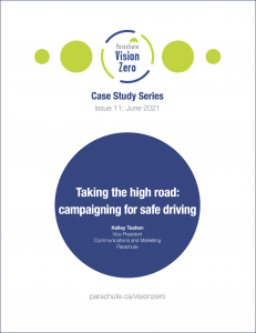 Image of cover of Vision Zero case study Taking the High Road